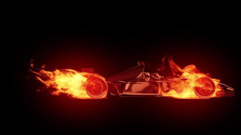 Fire race car Stock Video Footage