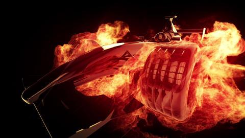 Fire race car Animation