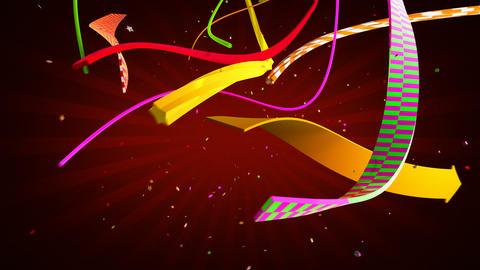 Celebration ribbons Stock Video Footage