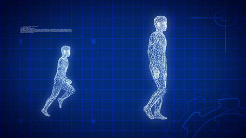 Blue medical science futuristic background, loopable Stock Video Footage