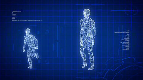 Blue medical science futuristic background, loopable Animation