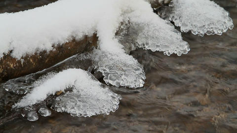winter stream 2 Stock Video Footage