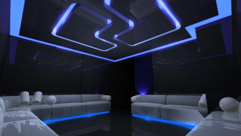 led light of Club Room Stock Video Footage
