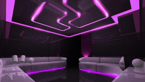 led light of Club Room Stock Video Footage