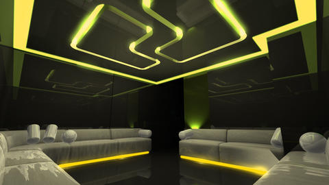 led light of Club Room Animation
