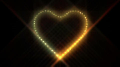 Heart Particle Stock Video Footage