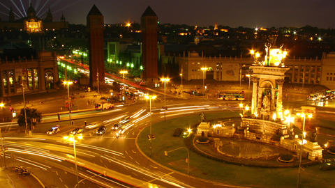 Barcelona, Spain, timelapse Stock Video Footage