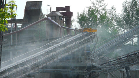 coal factory Stock Video Footage