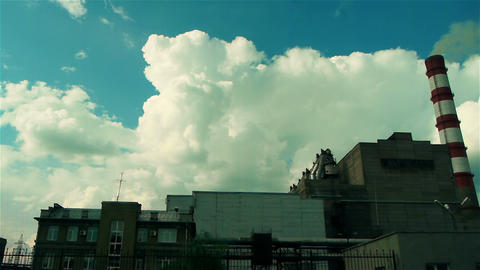 coal burning plant Stock Video Footage