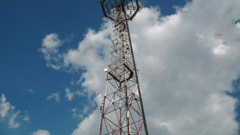 Communication tower Stock Video Footage