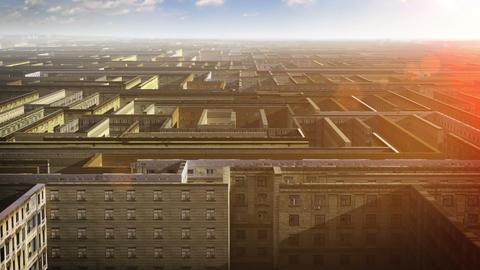 City maze Stock Video Footage