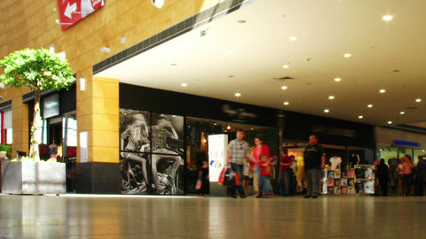 shopping mall, time lapse Stock Video Footage
