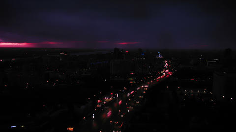Sunset at Novosibirsk, Russia Stock Video Footage