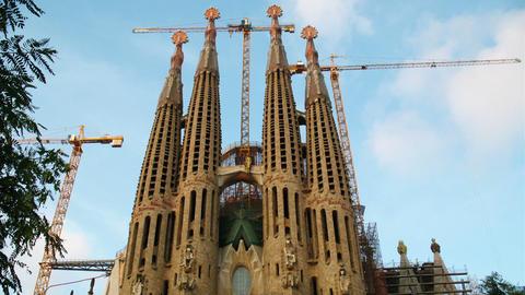 Sagrada Familia, Barcelona, Spain Stock Video Footage