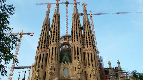 Sagrada Familia, Barcelona, Spain Footage