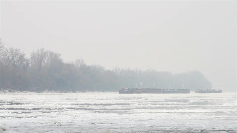 Ice on River 06 Stock Video Footage