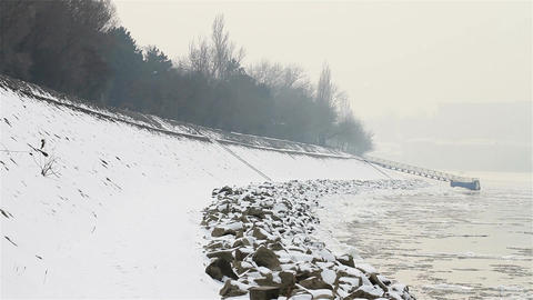 Ice on River 08 Stock Video Footage