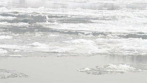 Ice on River 14 Stock Video Footage