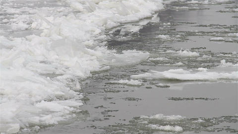 Ice on River 21 Stock Video Footage