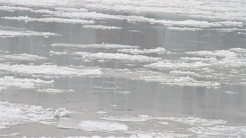 Ice on River 25 Stock Video Footage