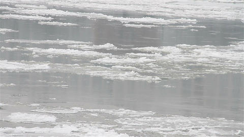 Ice on River 25 Footage