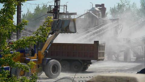 Bulldozer at work Stock Video Footage