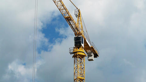Construction crane against the sky Stock Video Footage