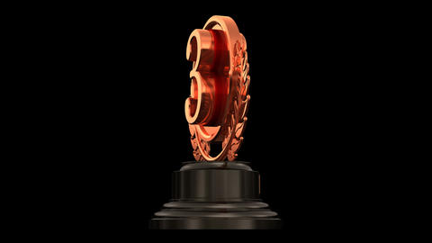 Medal Prize Trophy 03b HD Stock Video Footage