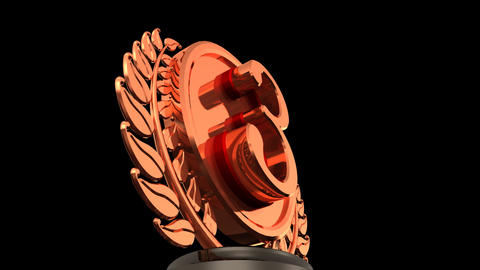 Medal Prize Trophy 03b HD Animation