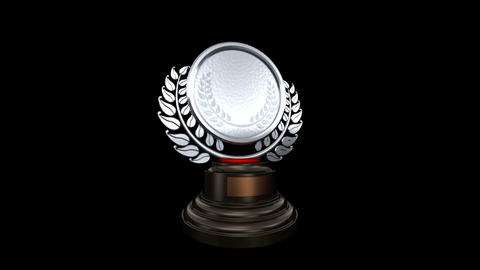 Medal Prize Trophy Gb HD Stock Video Footage
