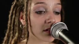 beautiful singer with dreadlocks Footage