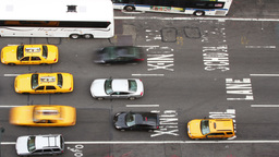 manhattan new york street traffic cars taxi Footage