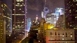 skyscrapers towers manhattan skyline new york night Footage