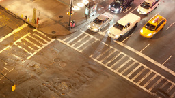 manhattan street scene traffic new york Footage
