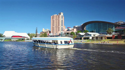 View of Riverbank Precinct in Adelaide, Australia Footage
