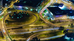4k timelapse video of traffic on highway at night Footage