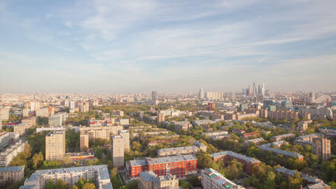 Moscow city urban sunset timelapse 4K Footage