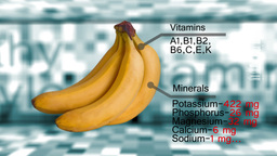 Scrolling fruits with vitamins and minerals description. Check out same video bu CG動画素材