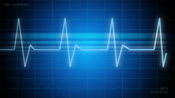 A medical background with a heart beat / pulse with a heart rate monitor symbol Animation