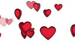 Heart shape concept on white background Animation