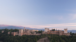 alhambra sunset00 Footage