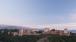 alhambra sunset00 Footage