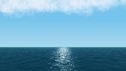 Sea And Cloud, And Blue Sky CG stock footage