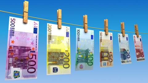 Drying Euros (Loop) Animation