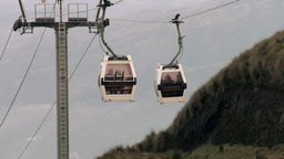Quito cable car from Pichincha static shot Footage