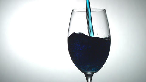 Blue Alcoholic Beverage HD stock footage