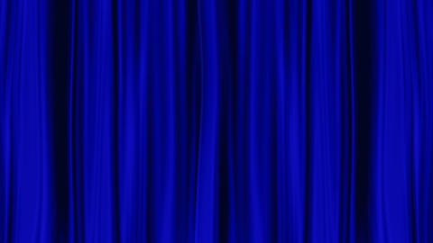 Blue Curtains open, isolated black backgraund Stock Video Footage