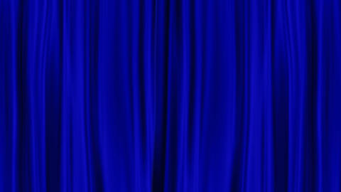 Blue Curtains Open, Isolated Black Backgraund stock footage