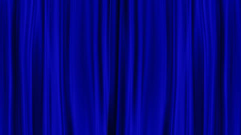 Blue Curtains Open, isolated on White backgraund Animation