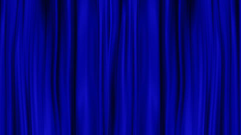 Blue Curtains Open, isolated on White backgraund Stock Video Footage